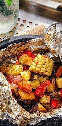Vegetales en trozos envueltos | 21 Recetas con papel aluminio para un día de campo