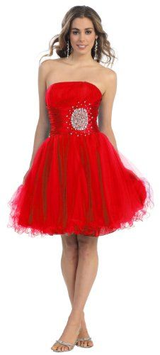 Strapless Cocktail Party Junior Prom Dress #648 « Dress Adds Everyday