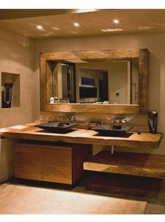 Bathroom Decor elegant 20 Bathroom Designs and Decoration Ideas Top Lux elegance die doppelte kastanienbraune massivholzwasch The post 20 Bathroom Designs and Decoration Ideas appeared first on Badezimmer ideen. Rustic Bathroom Designs, Rustic Bathrooms, Dream Bathrooms, Bathroom Interior Design, Amazing Bathrooms, Modern Bathroom, Small Bathroom, Master Bathroom, Downstairs Bathroom
