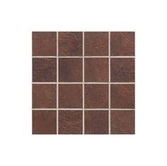 "Daltile CS51-33MSC1P Continental Slate Indian Red 3"" x 3"" Porcelain Multi-Surfac Indian Red Tile Multi-Surface Tile Mosaic"