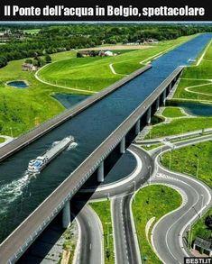Civil Engineering: Belgium's Sart Canal bridge! Civil Engineering: Belgium's Sart Canal bridge! Futuristic Architecture, Amazing Architecture, Architecture Design, Places To Travel, Places To See, Bridge Design, Dubai Hotel, Civil Engineering, Belle Photo