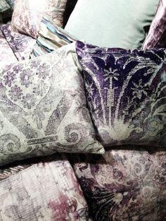 a toss of lovely pillows