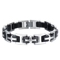Black Titanium Steel Link Chain Bracelet