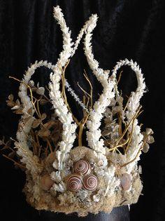 Faerie Crown Coral Reef Headdress Headpiece by FaerieCrownsbyCG
