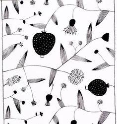 Lompolo white/black interior fabric by Marimekko Art And Illustration, Pattern Illustration, Textile Patterns, Print Patterns, Floral Patterns, Marimekko Fabric, Textile Artists, Japanese Art, Japanese Patterns