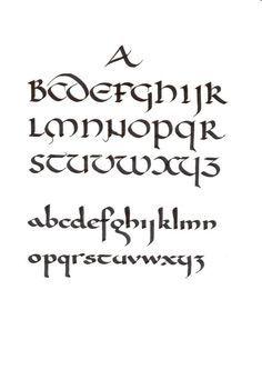 Uncial (top) and Carolingian