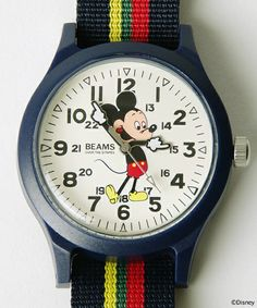 """OVER THE STRiPES×Ray BEAMS / """"Mickey Mouse"""" ウォッチ / Ray BEAMS(レイ ビームス) ビームス公式通販サイト BEAMS Online Shop"""