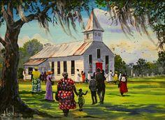 Gullah African-American Art by John W. Jones at Gallery Chuma, Charleston, SC