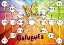Subtraction Game - Gulugufe - An Ancient Game for Practising Subtraction from Adrian Bruce's Math & Reading Games on TeachersNotebook.com -  (6 pages)  - 'Subtraction Game' - Gulugufe is a Subtraction game that combines strategic thinking with the learning of basic facts. The game enables students to practise solving subtraction algorithms.