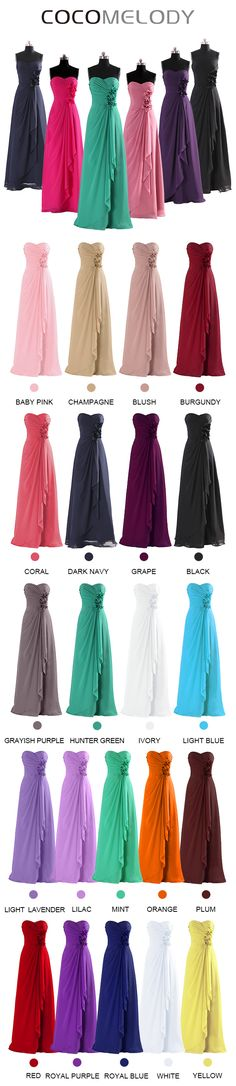 $90, Sweetheart Floor Length Viridis Chiffon Bridesmaids Dress COSF14002 #wedding #customdresses #cocomelody #bridesmaiddresses