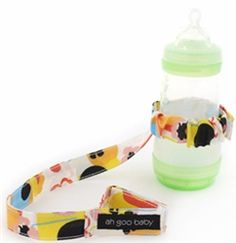 Baby Bottle Strap from Ah Goo. #BottleStrap #TravelStrapBaby #AhGoo
