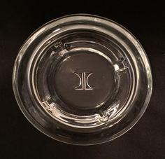 Hilton Hotel Logo glass ashtray.