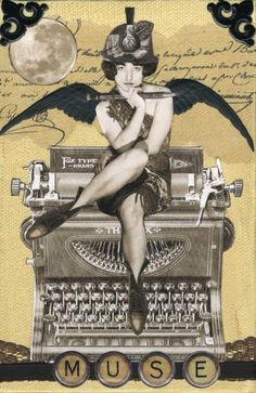 Collage Typewriter Fairy