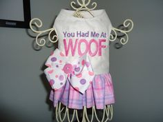 You Had Me At Woof...1  2 Ruffled Harness by BarkAndWagBoutique