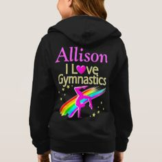 PRETTY I LOVE GYMNASTICS PERSONALIZED HOODIE Calling all Gymnasts! Enjoy the best selection of Gymnastics Gifts from Zazzle.  Not available in stores! http://www.zazzle.com/mysportsstar/gifts?cg=196751399353624165&rf=238246180177746410   #Gymnastics #Gymnast #Gymnastgift #Gymnastgirl
