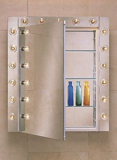 "Robern PLM1630W 15 1/4"" Reversible Hinged Single Door Mirrored Medicine Cabinet White Bathroom Storage Medicine Cabinets Single Door"