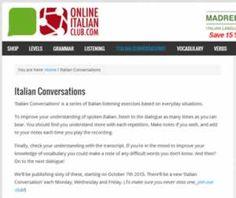 Recursos para aprender italiano. Listado de sitios web sobre diálogos italianos.