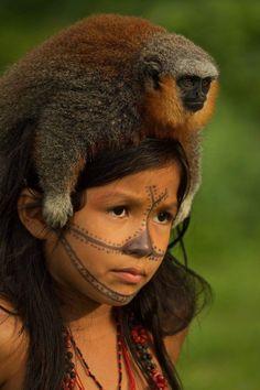 Munduruku girl - Amazon River - Brazil