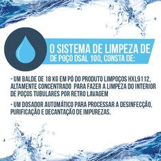 O SISTEMA DE LIMPEZA DE POÇO DSAL 100, consta de:  1) Um balde de 18 kg em pó do produto LIMPOÇOS HXL9112, altamente concentrado para fazer a limpeza do interior de poços tubulares por retro lavagem   2) Um dosador automático para processar a desinfecção, purificação e decantação de impurezas. #Água #DSAL  Acesse nosso blog: dsal100.blogspot.com.br