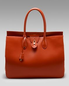 Gorgeous Rochas Leather Lock Tote Best Tote Bags, Spring Handbags, Red Bags,  Large c69f39152f