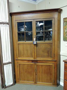 American Cherry Corner Cabinet | Olde Mobile Antique Gallery