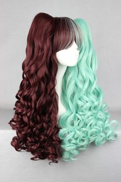 Synthetic None-lacewigs Mcoser 55cm Long Multi-color Beautiful Lolita Wig Anime Wig And To Have A Long Life.