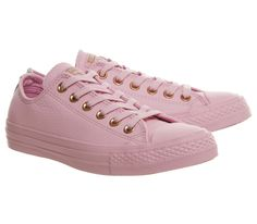 74cb15c9d5a598 Converse All Star Low Leather Trainers Lilac Mouse Exclusive - Hers trainers