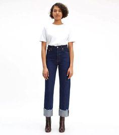 Levi Ribcage Straight Selvedge Jeans : Levi Ribcage Straight Selvedge Jeans #Levi #Ribcage #Straight