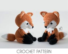 CROCHET PATTERN Lucy the Fox crochet amigurumi stuffed sitting forest animal plush toy / Handmade gift This is a crochet pattern, NOT a finished product! The crochet pattern is written in English (US te Crochet Kawaii, Chat Crochet, Dog Crochet, Crochet Hedgehog, Crochet Monkey, Crochet Turtle, Crochet Teddy, Blanket Crochet, Amigurumi Fox