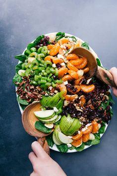 Autumn Crunch Pasta Salad   Chelsea's Messy Apron Radish Salad, Spinach Salad, Citrus Vinaigrette, Roasted Veggie Salad, Cranberry Walnut Salad, Chelsea's Messy Apron, Best Pasta Salad, Squash Salad, Healthy Recipes