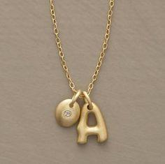initial necklace ~ sundance catalog | Treasures. | Pinterest