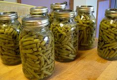 Canning Green Beans, Step by step instructions for home canning using a pressure canner, hot or cold pack.