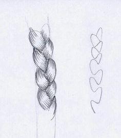 Comment dessiner une tresse.