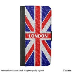 Personalized #Union #Jack #Flag Design #Mobile #Phone Wallet #Case