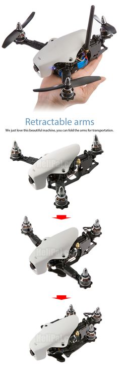 Are you trying to make your drone more portable? Give your drone retractable arms today! Buy Drone, Flying Drones, Drone Technology, Technology Gadgets, Drone Quadcopter, Cool Tech, Drone Photography, Radio Control, Racing