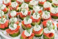 These little cucumber and smoked salmon appetizer bites are as delicious as they are pretty. They make the perfect healthy and tasty party appetizer.