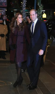Second pregnancy. Kate touched down in New York for a two day trip sporting a shimmering, tweed Seraphine coat and all-black accessories. She and Prince William paid tribute to the US in red, white, and blue! Kate Middleton Style
