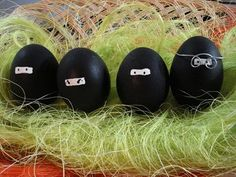 Ninja Easter eggs! Love this idea to do with little boys!