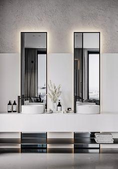 -WBB- on Behance Bathroom Design Luxury, Home Interior Design, Minimalist Bathroom Design, Minimal Bathroom, Restroom Design, Bathroom Toilets, Washroom, Beautiful Bathrooms, Bathroom Inspiration