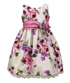 Orchid Floral A-Line Dress - Toddler & Girls