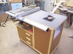 Ridgid r4512 ts shop built folding outfeed table router insert improve your router table with these tips from binks woodworking greentooth Choice Image
