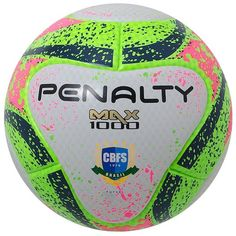 759d43b63 Bola Penalty Futsal Max 1000 Termotec Vii - Branco e Verde