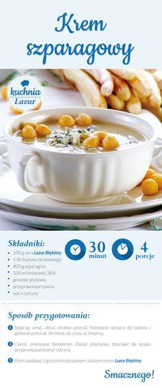 Krem szparagowy /krem /szparagi  /Lazur /ser pleśniowy /rokpol /przepisy /kuchnia lazur