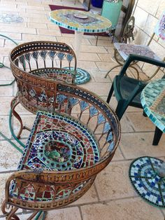 Love chair mosaic