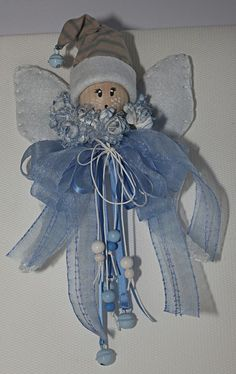 Hobbies And Crafts, Arts And Crafts, Christmas Crafts, Christmas Decorations, Felt Fairy, Baby Shower, Angel Ornaments, Baby Crafts, Fabric Dolls