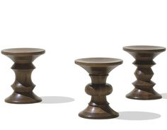 Charles & Ray Eames Eames® walnut stools by Herman Miller