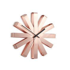 Umbra® Ribbon Wall Clock - Copper by UMBRA | Clocks Gifts | chapters.indigo.ca