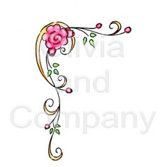 Roses With Swirls Corner