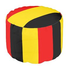 #country - #Flag of Belgium Pouf