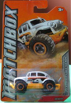 2011 Matchbox Volkswagen Beetle 4x4 VW Baja Desert - Diecast-Modern Manufacture